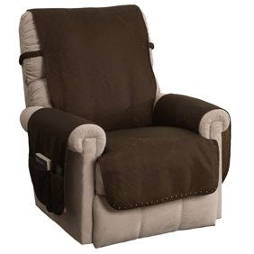 Miraculous Innovative Textile Solutions Logan Solid Microplush Quilted With Straps Recliner Furniture Cover Slipcover Andrewgaddart Wooden Chair Designs For Living Room Andrewgaddartcom