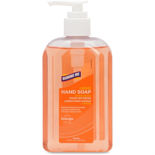 Genuine Joe Liquid Soap - 8.5 fl oz (251.4 mL) - Pump Bottle Dispenser - Moisturizing, pH Balanced, Dye-free