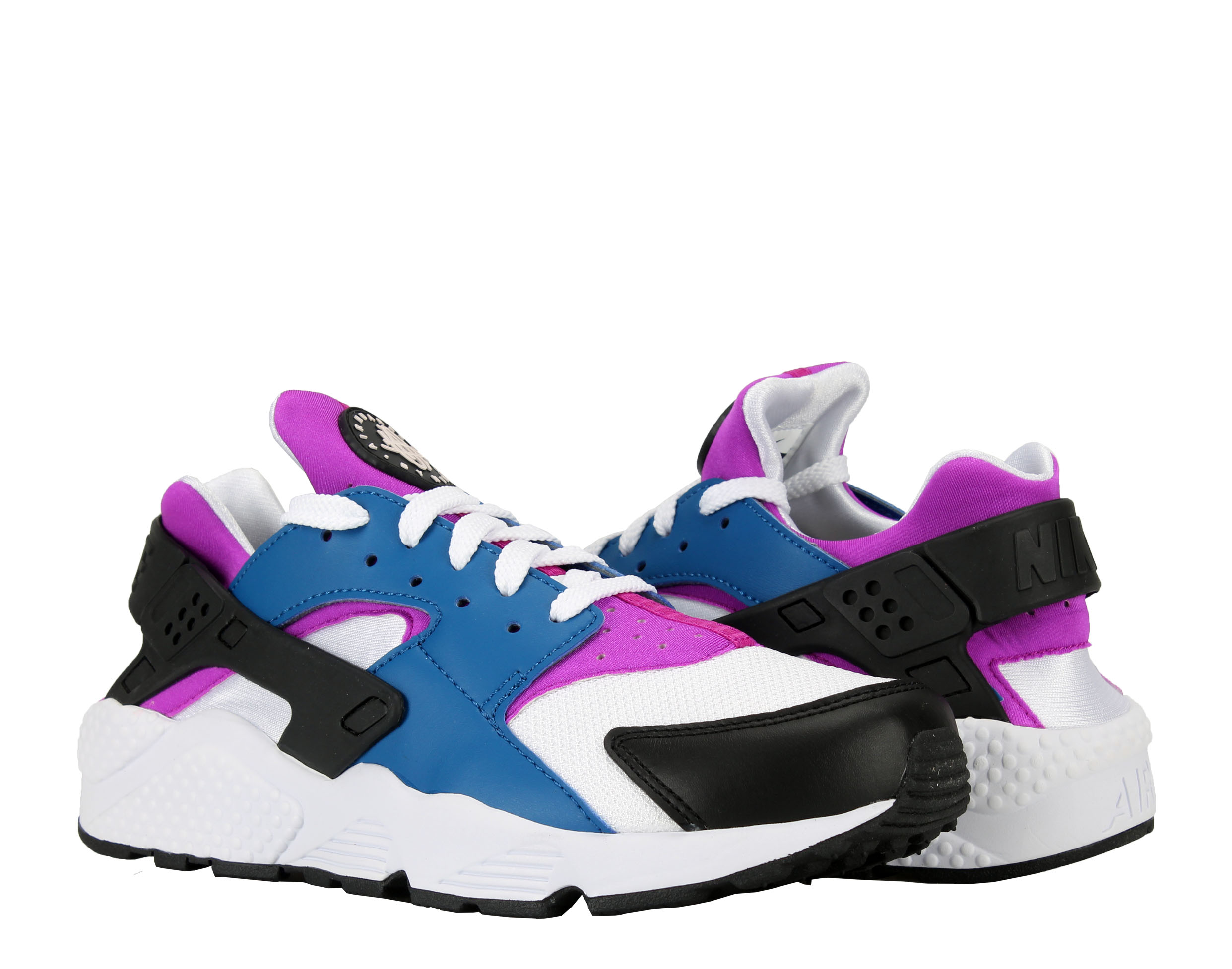 Nike Air Huarache Blue Jay White-Hyper Violet Men's Running Shoes 318429-415 by Nike