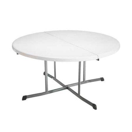 60 Inch Round Table Seats - Lifetime 60-Inch Round Fold-In-Half Table (Commercial), 80806