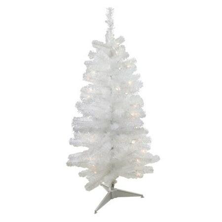 Northlight Seasonal 4 White Artificial Christmas Tree With 100