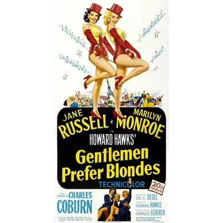 Gentlemen Prefer Blondes Us Poster Jane Russell Marilyn Monroe 1953 Tm &  Copyright 20Th Century Fox Film CorpCourtesy Everett Collection Movie  Poster