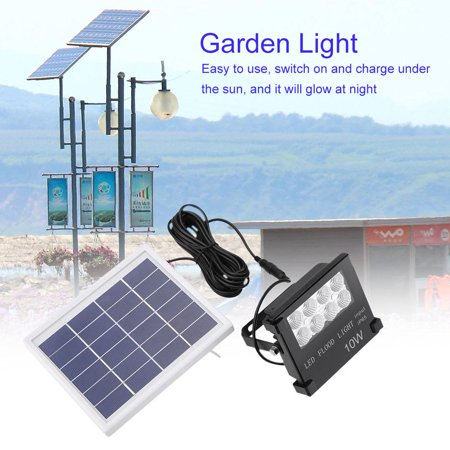 Zerone Solar Powered Lamp,Solar Powered Sensor Light Floodlight Lamp Backyard Garden Path Illumination , Garden Light