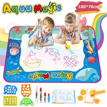 High Supply Aqua Magic Doodle Mat Large Water Doodle Drawing Mat Kids Painting Writing Mat Educational Toys for Age 2 3 4 5 6 7 8 9 10 Year Old Girls Boys Age Toddler Gift Rainbow](Educational Toys For 10 Year Olds)