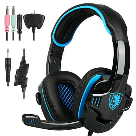 SADES ME333 Gaming Headset GT Stereo HiFi Gaming Headset Headphone with Microphone for PS4 Xbox360 PC Mac