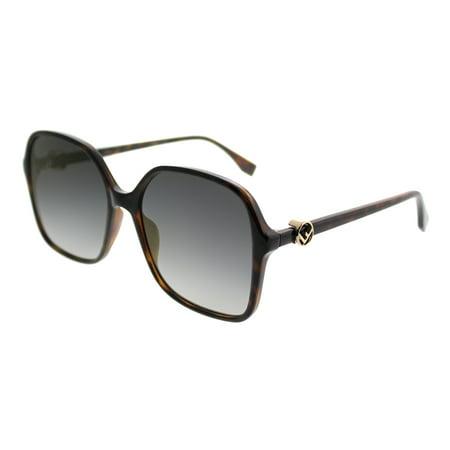 Fendi FF0287/S 0086/FQ Dark Havana Oversized Sunglasses
