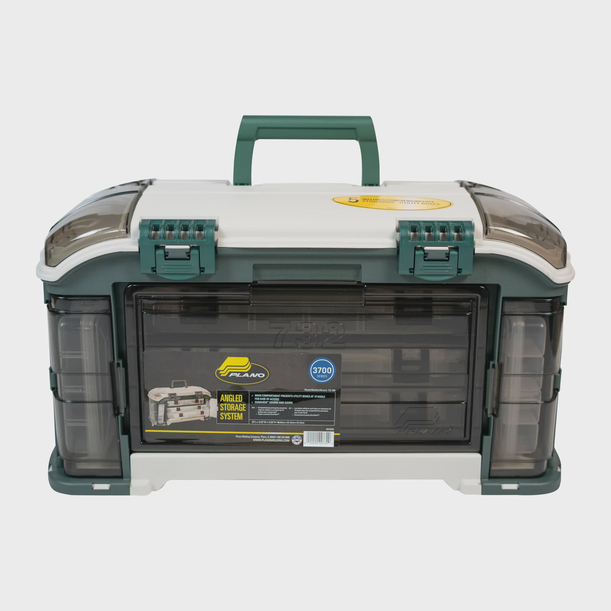 Fishing Tackle Storage Plano Angled Tackle System with Three 3560 Stowaway Boxes Pack of 2 Premium Tackle Storage