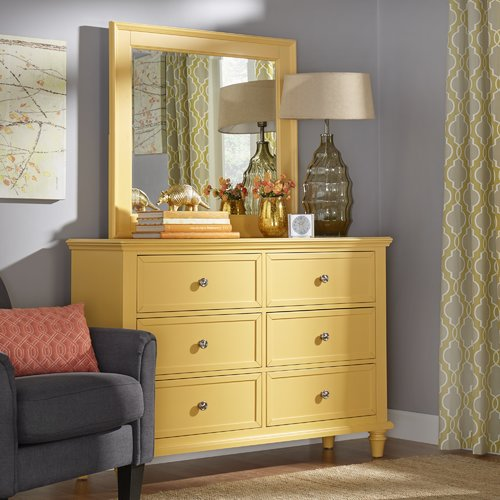 Buyenlarge Darby Home Co Isabella 6 Drawer Dresser with M...