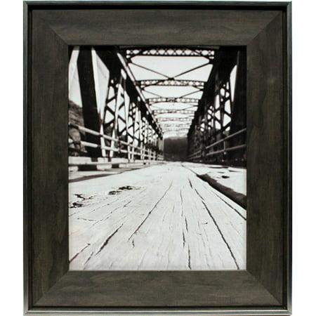Industrial 8 x 10 Wood Picture Frame: Dark Brown