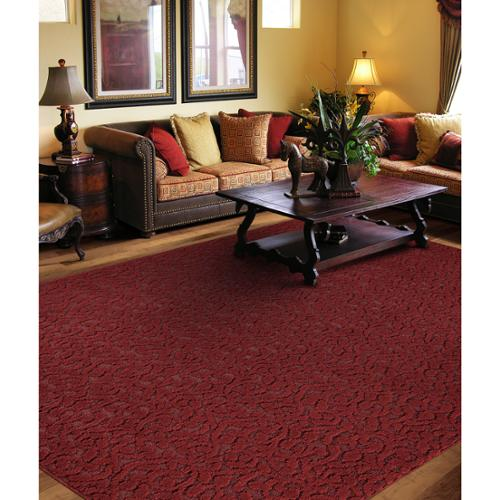 Somette  Twisting Vine Chili Red Area Rug (12' x 18')