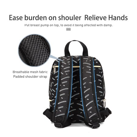 Insulated Breastmilk Cooler Bag Breast Pump Backpack Waterproof Double Layer Bottle Lunch Tote Bag For Breastfeeding Mom Work Panic Travel (Hygeia Q Breast Pump With Tote Bag Hgk100218)