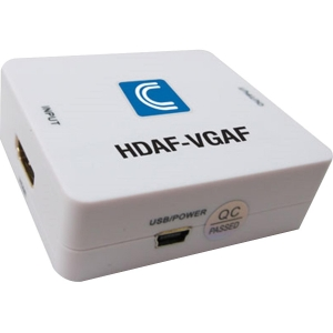 Comprehensive HDMI to VGA Converter with Stereo Audio - 1 x HDMI Female Digital Audio/Video - 1 x HD-15 Female VGA, 1 x Mini-phone Female Stereo Audio W/STEREO AUDIO 2 YR WARR