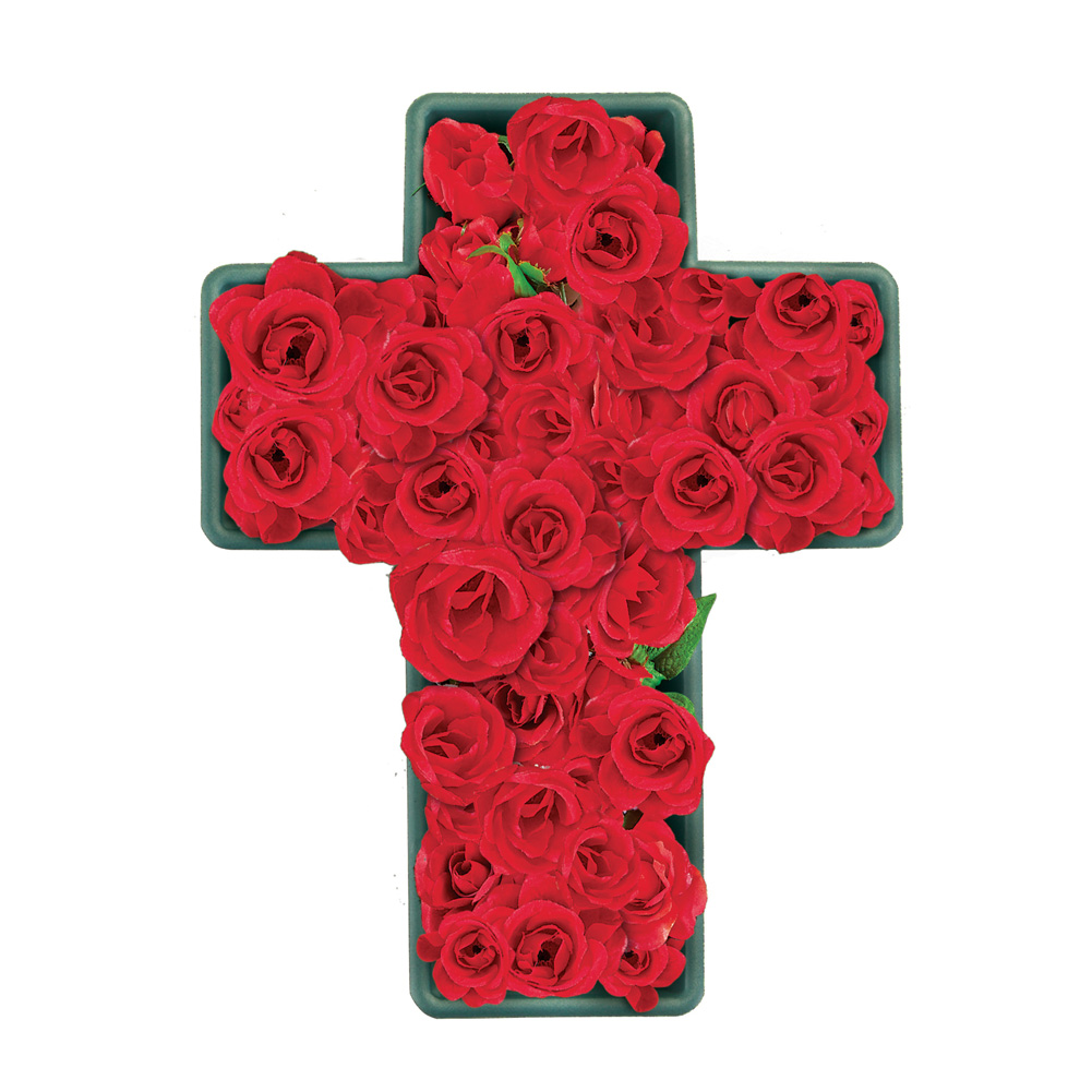 Cross-Shaped Flower Plastic Planter for Home or Garden, Allows for Unique Display