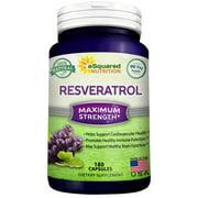 100% Pure Resveratrol - 1000mg Per Serving Max Strength (180 Capsules) Antioxidant Supplement