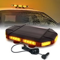 "Xprite Amber Mini Black Hawk 18"" Professional LED Stealth Low Profile Roof Top Strobe Light Bar"