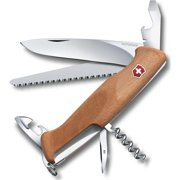"Swiss Army Delemont Collection 130mm/5.11"" RangerWood 55 Pocket Knife Multi-Tool, Walnut"