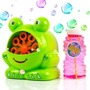 Toysery Frog Shaped Bubble Machine | Countless Colored Bubbles | Easy to Use | Perfect for Any Occasion | Strong and Durable | Hours of Entertainment for Kids