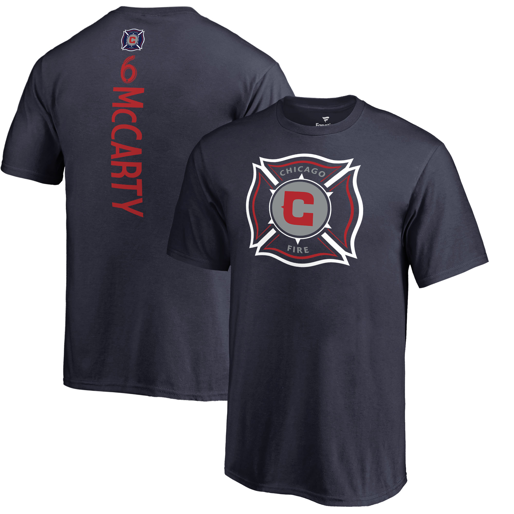 Dax McCarty Chicago Fire Fanatics Branded Youth MLS Backer T-Shirt - Navy