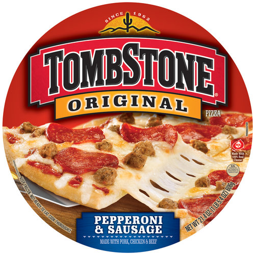Tombstone Original Pepperoni & Sausage Pizza, 21.4 oz