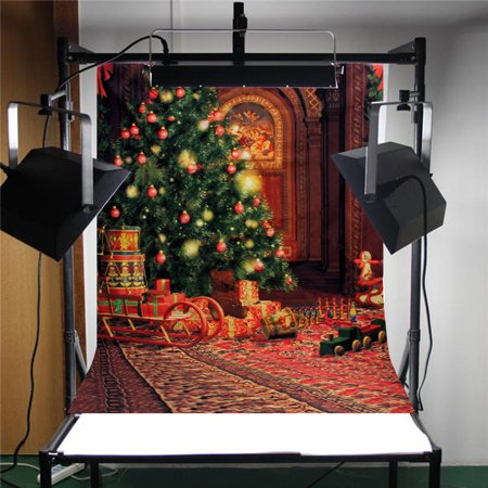 Multi-style 5x7FT Photography Vinyl Fabric Backdrop Background Christmas Tree Gift Wood Wall Floor Baby Photo Studio Props Wall Art Decor Gift  - image 2 de 4