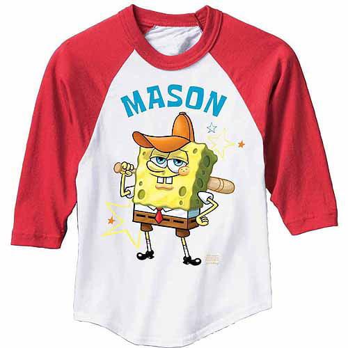 SpongeBob SquarePants Baseball Boys' Youth Red Jersey Tee