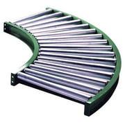 ASHLAND CONVEYOR 10F90KG03B10 Roller Conveyor,90 Curve, 10BF
