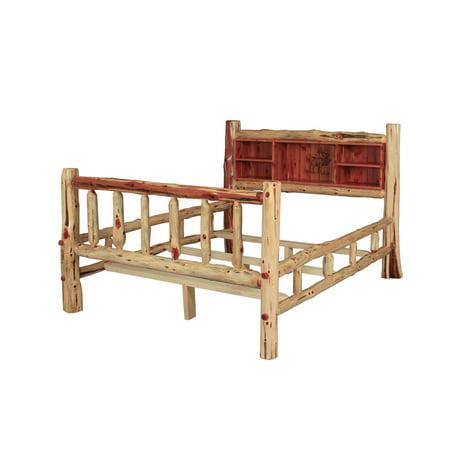 Furniture Barn Usa Rustic Red Cedar Log Double Side Rail