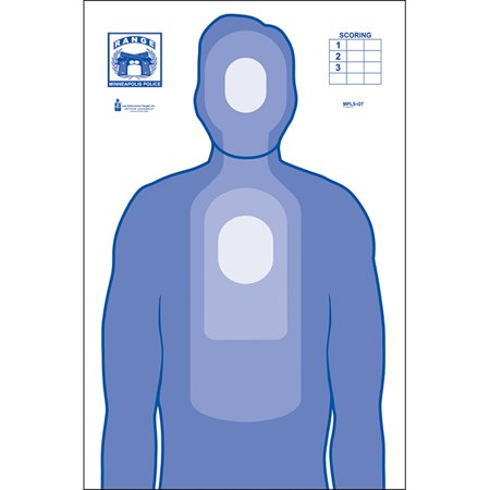 10 Pcs of Minneapolis (MN) PD Qualification Target Ink: Blue Size: 23
