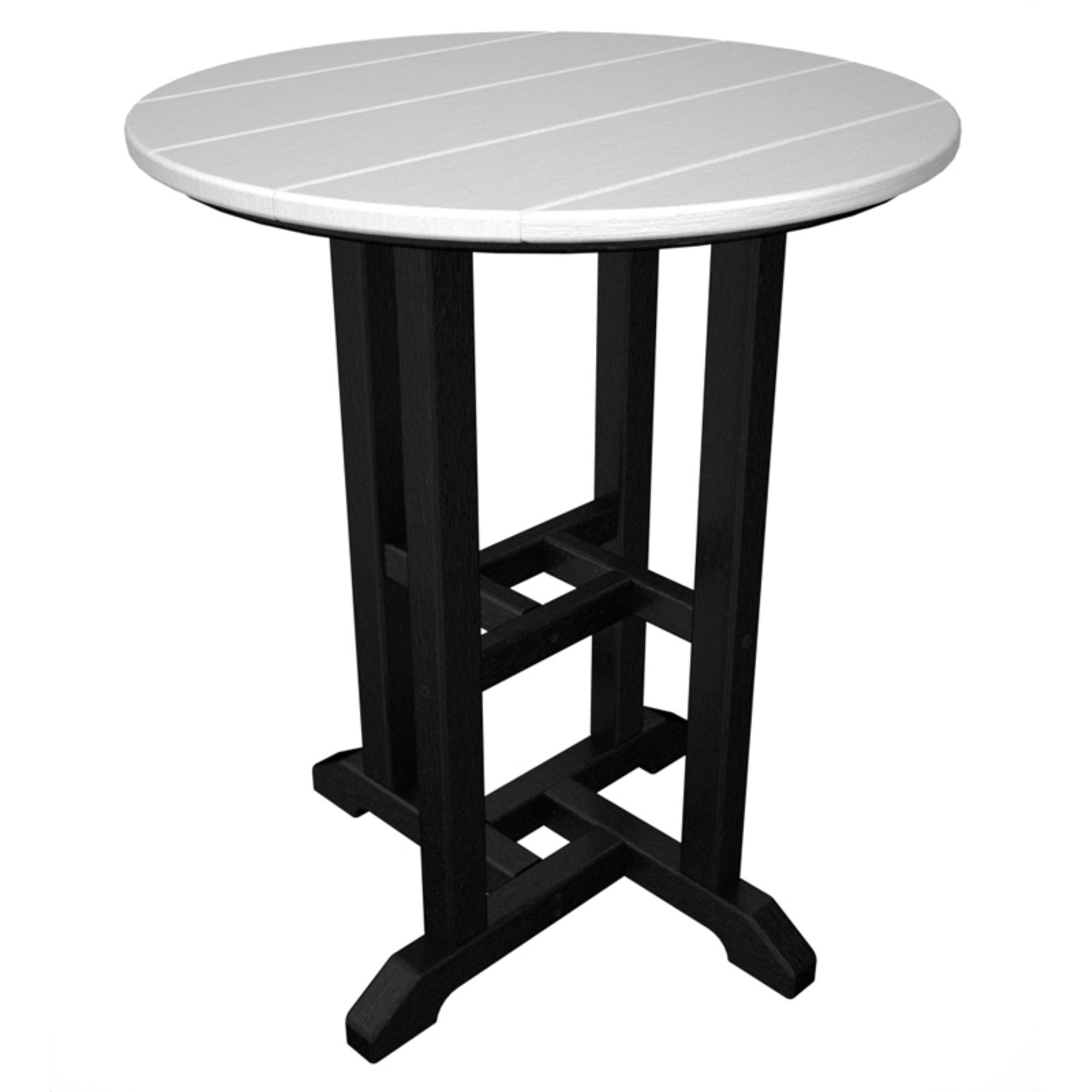 POLYWOOD® Contempo 24 in. POLYWOOD® Round Counter Height Table