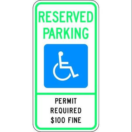LYLE HC-MT01-12HA Parking Sign, 24 x 12In, HINT Prismatic AL
