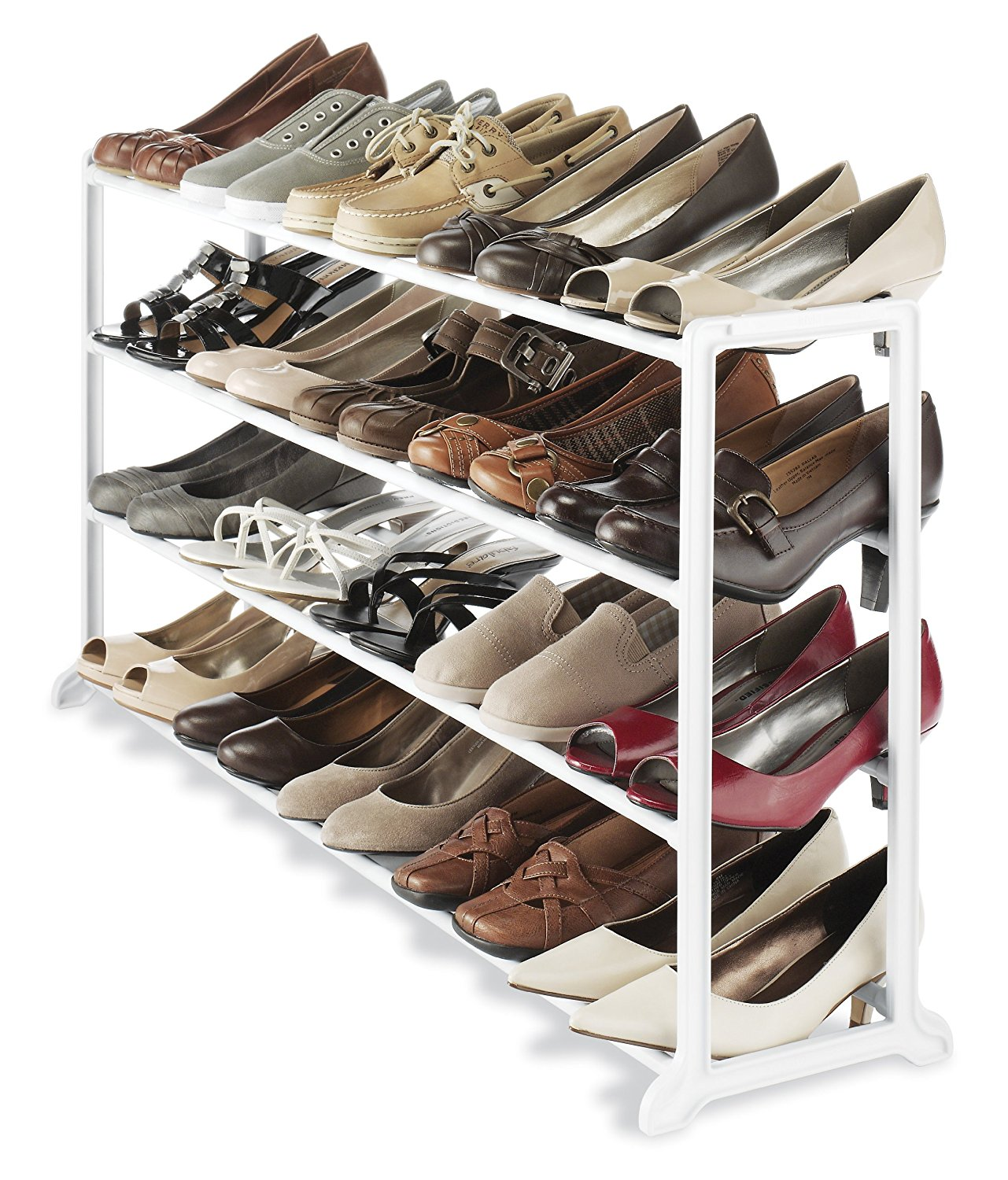 Whitmor 20 Pair Shoe Stand White by Whitmor