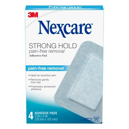 Nexcare Strong Hold Pain-Free Removal Adhesive Pad SSD34, 3 in x 4