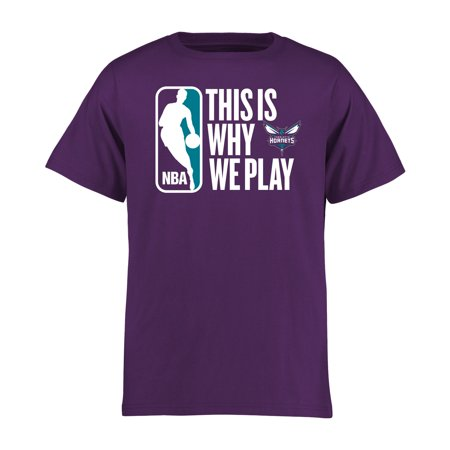 Charlotte Hornets Youth This Is Why We Play T-Shirt - Purple