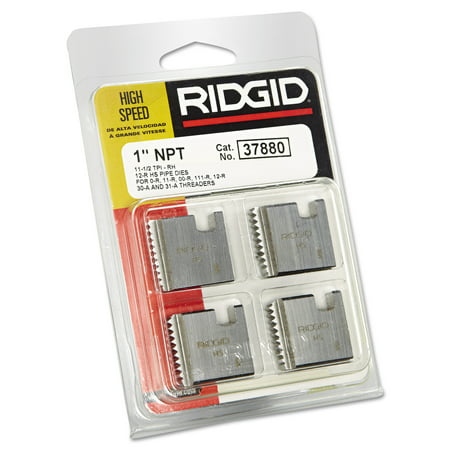 RIDGID High-Speed RH Manual Threader Pipe & Bolt Die, NPT, 1