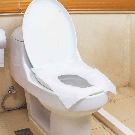Magnificent Two Packs Twenty Pieces Disposable Bathroom Waterproof Hygiene Toilet Closetool Wc Pedestal Pan Seat Cover Pads Mat Cushion Paper Inzonedesignstudio Interior Chair Design Inzonedesignstudiocom
