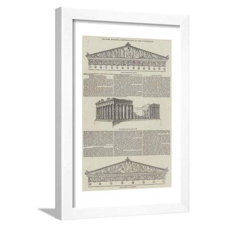 British Museum, Restoration of the Parthenon Framed Print Wall Art