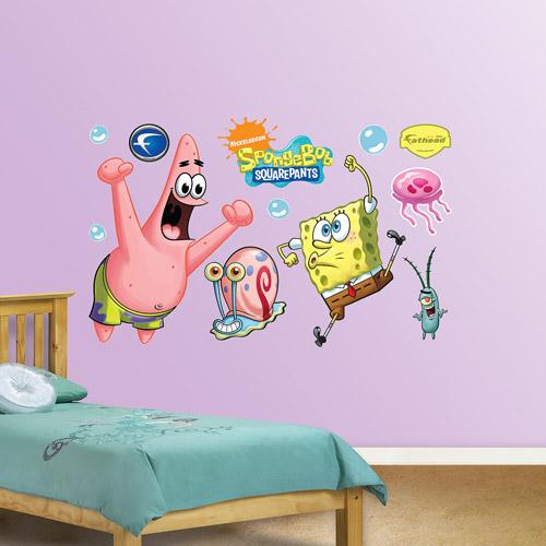 Fathead SpongeBob and Patrick