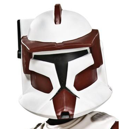 Commander Fox Clone Trooper Helmet Costume Mask Child Boys Star Wars Clone Wars Cartoon Collector Series Deluxe 2-piece Movie Merchandise Kids Toy Collectible (One Size)