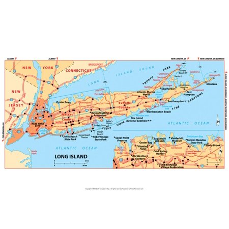 Michelin Official Long Island Map Art Print Poster -