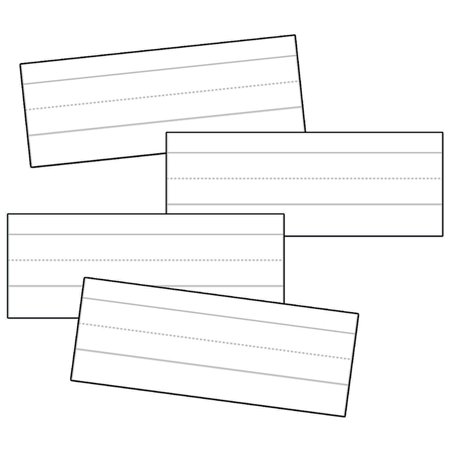 (12 Pk) Word Strips Lined White 100 Per Pk - Lined White Word Strips
