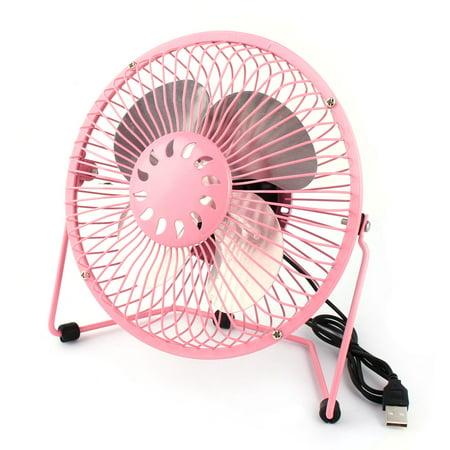 Computer Notebook Laptop Metal Portable USB  Cooler Cooling Fan - Pink Fans