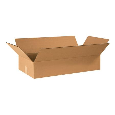 Box Partners Flat Corrugated Bxs,24x12x4,Kraft,25/BDL - BXP 24124