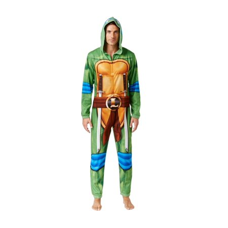 Briefly Stated Mens Leonardo Ninja Turtle Costume Body Suit - Turtle Suit