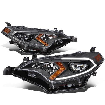 for 14-16 toyota corolla sedan pair led drl projector headlight black housing amber corner headlamp 15 left+right