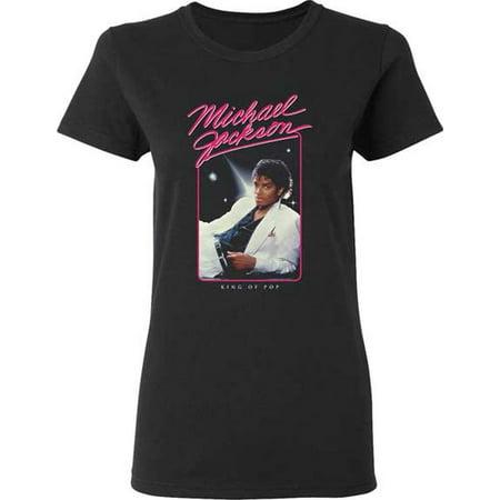Michael Jackson King Of Pop Junior Women's T-Shirt (Michael Jackson Sequin Shirt)