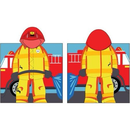 Fireman Hooded Bath Poncho Towel Walmart Com