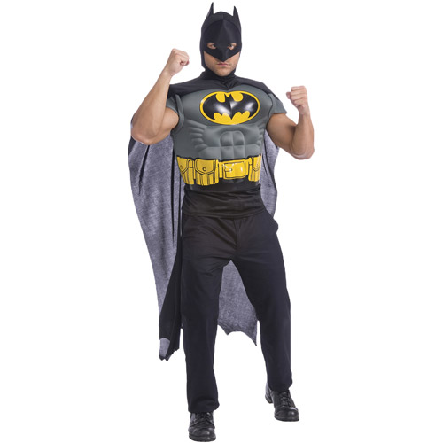 Batman Muscle Shirt with Cape Adult Halloween Accessory