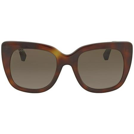 297f04cb57 Gucci - Gucci Brown Gradient Sunglasses GG0163S 002 51 - Walmart.com