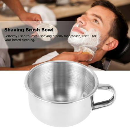 Brosse de rasage Bowl Acier inoxydable Shave Cream Savon Bowl Tasse de rasage Tasse de savon pour le soin du visage masculin - image 2 of 4