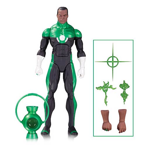 DC Comics Icons Green Lantern John Stewart Action Figure by DC Direct